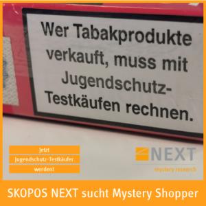 Tabakprodukte Jugednschutz-Testkäufe
